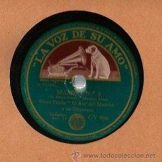 Discos de pizarra: PEREZ PRADO, EL REY DEL MAMBO Y SU ORQUESTA : MAMBO NUM. 5 + QUE RICO EL MAMBO . Lote 53216132