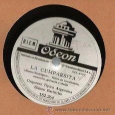 Discos de pizarra: ORQUESTA TIPICA ARGENTINA BIANCO BACHINA : LA CUMPARSITA + LO HAN VISTO CON OTRA . Lote 53216316