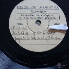 Discos de pizarra: DISCO DE PIZARRA FLAMENCO. Lote 53268802