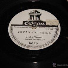 Discos de pizarra: JOTAS DE BAILE CECILIO NAVARRO .JOTAS DE RONDA CECILIO NAVARRO RONDALLA VENECIA . Lote 53363880
