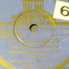 Discos de pizarra: DISCO DE GUERRITA MI TERESA Y FANDANGOS DISCO ODEON ACOMPAÑADO A LA GUITARRA POR MIGUEL BORRULL. Lote 53442285