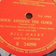Discos de pizarra: DISCO DE PIZARRA ROCK AROUND THE CLOK. Lote 53458378