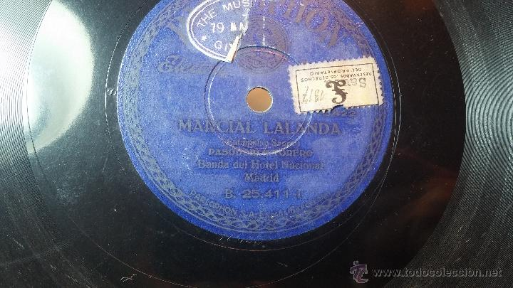 Discos de pizarra: Disco de pizarra antiguo, MARCIAL LALANDA- pasodoble, CHIMCHORRO-pasodoble - Foto 2 - 53519741
