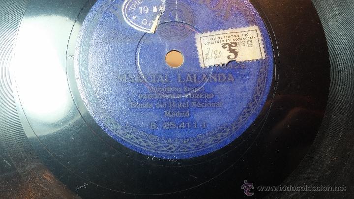 Discos de pizarra: Disco de pizarra antiguo, MARCIAL LALANDA- pasodoble, CHIMCHORRO-pasodoble - Foto 3 - 53519741