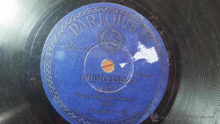 Discos de pizarra: Disco de pizarra antiguo, MARCIAL LALANDA- pasodoble, CHIMCHORRO-pasodoble - Foto 4 - 53519741
