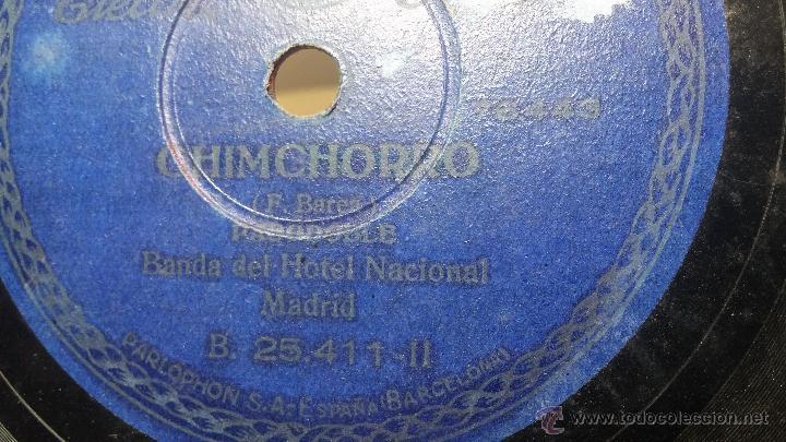 Discos de pizarra: Disco de pizarra antiguo, MARCIAL LALANDA- pasodoble, CHIMCHORRO-pasodoble - Foto 5 - 53519741