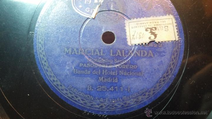 Discos de pizarra: Disco de pizarra antiguo, MARCIAL LALANDA- pasodoble, CHIMCHORRO-pasodoble - Foto 7 - 53519741