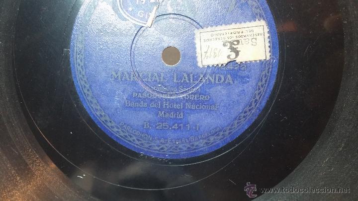 Discos de pizarra: Disco de pizarra antiguo, MARCIAL LALANDA- pasodoble, CHIMCHORRO-pasodoble - Foto 8 - 53519741
