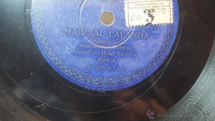 Discos de pizarra: Disco de pizarra antiguo, MARCIAL LALANDA- pasodoble, CHIMCHORRO-pasodoble - Foto 9 - 53519741