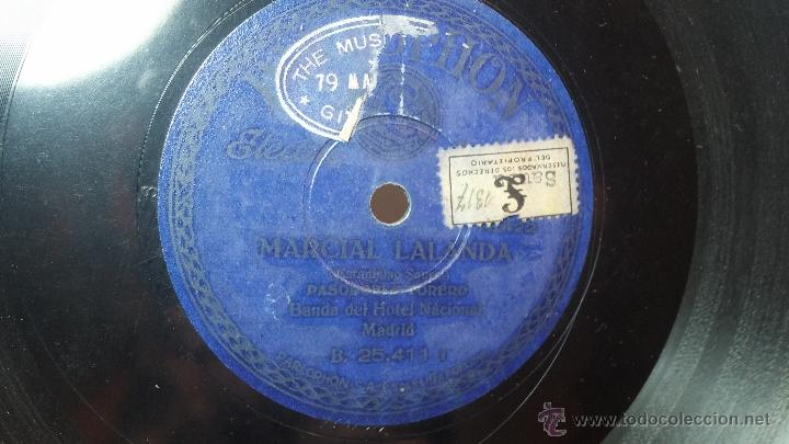 Discos de pizarra: Disco de pizarra antiguo, MARCIAL LALANDA- pasodoble, CHIMCHORRO-pasodoble - Foto 10 - 53519741