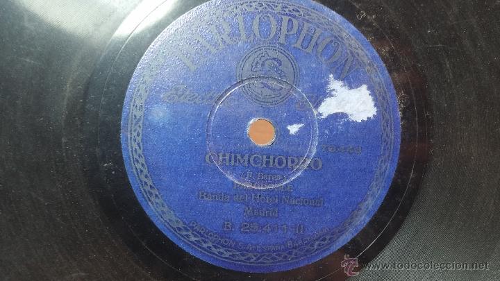 Discos de pizarra: Disco de pizarra antiguo, MARCIAL LALANDA- pasodoble, CHIMCHORRO-pasodoble - Foto 12 - 53519741