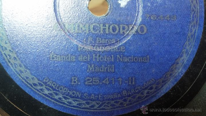 Discos de pizarra: Disco de pizarra antiguo, MARCIAL LALANDA- pasodoble, CHIMCHORRO-pasodoble - Foto 13 - 53519741