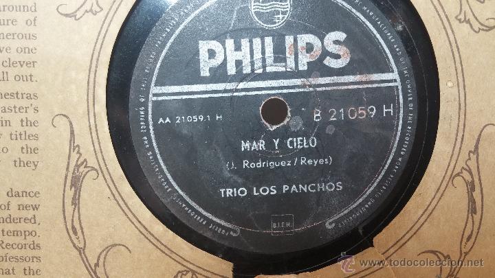 Discos de pizarra: Disco de pizarra antiguo, TRIO LOS PANCHOS... ya me voy, y Mar y cielo - Foto 3 - 53520086