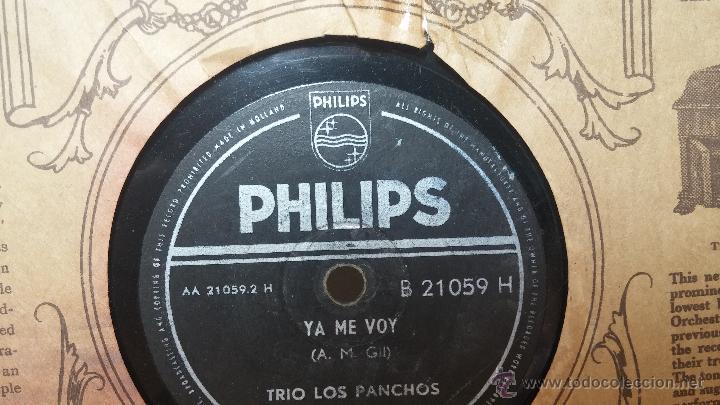 Discos de pizarra: Disco de pizarra antiguo, TRIO LOS PANCHOS... ya me voy, y Mar y cielo - Foto 4 - 53520086