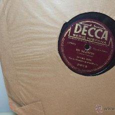 Discos de pizarra: DISCO DE PIZARRA ANTIGUO, ELVIRA RIOS.... EN SILENCIO Y VOLVERÁS. Lote 53520297