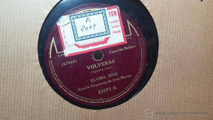 Discos de pizarra: Disco de pizarra antiguo, ELVIRA RIOS.... En silencio y Volverás - Foto 9 - 53520297