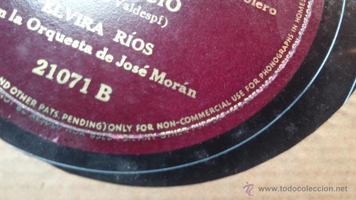 Discos de pizarra: Disco de pizarra antiguo, ELVIRA RIOS.... En silencio y Volverás - Foto 10 - 53520297