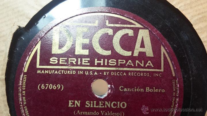 Discos de pizarra: Disco de pizarra antiguo, ELVIRA RIOS.... En silencio y Volverás - Foto 14 - 53520297