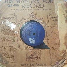 Discos de pizarra: DISCO DE PIZARRA ANTIGUO, PASODOBLE... GITANA DE ALBAICIN - CASTIZO DE AVAPIES. Lote 53521250