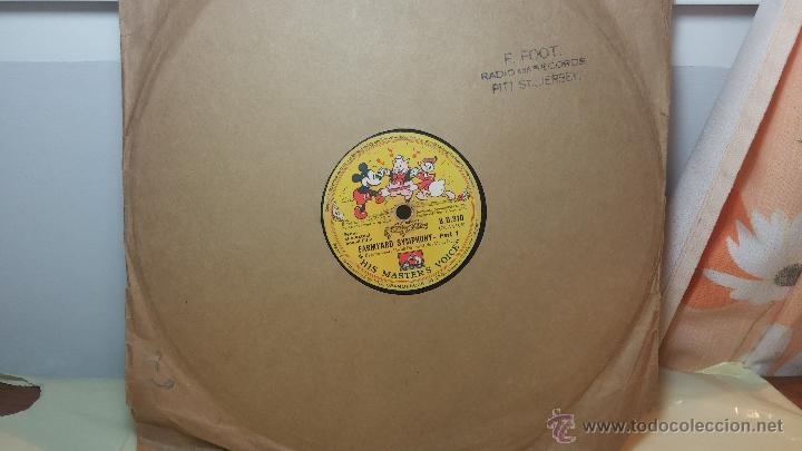 DISCO DE PIZARRA ANTIGUO, WALT DISNEY... FARMYARD SYMPHONY (Música - Discos - Pizarra - Otros estilos)
