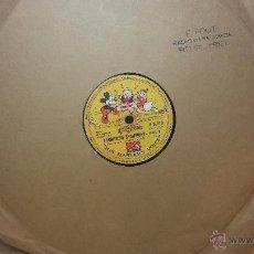 Discos de pizarra: DISCO DE PIZARRA ANTIGUO, WALT DISNEY... FARMYARD SYMPHONY. Lote 53521687