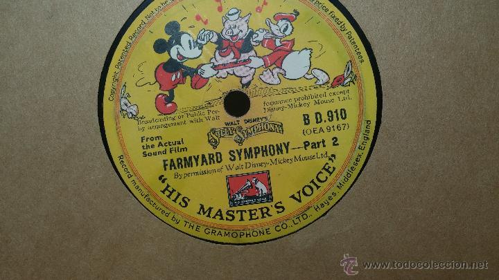 Discos de pizarra: Disco de pizarra antiguo, Walt Disney... farmyard symphony - Foto 2 - 53521687