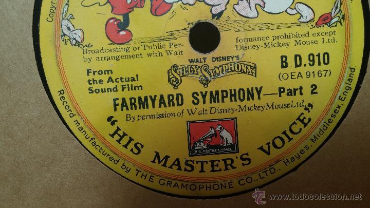 Discos de pizarra: Disco de pizarra antiguo, Walt Disney... farmyard symphony - Foto 4 - 53521687