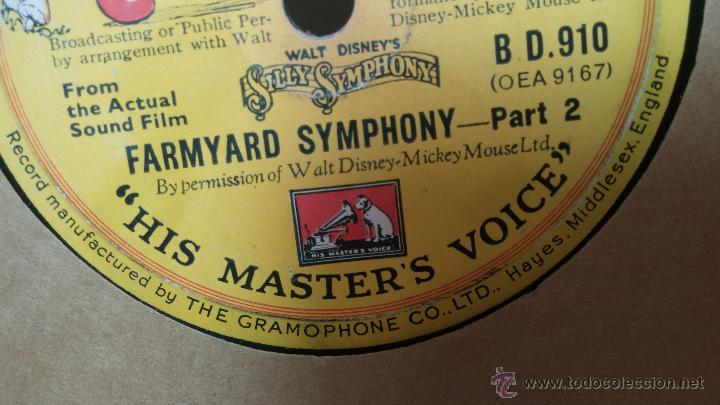 Discos de pizarra: Disco de pizarra antiguo, Walt Disney... farmyard symphony - Foto 5 - 53521687