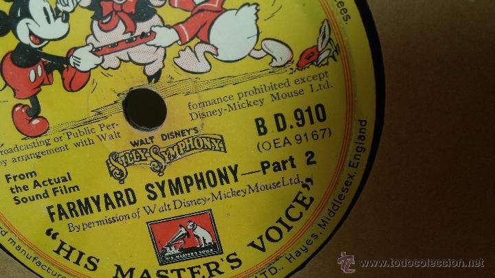 Discos de pizarra: Disco de pizarra antiguo, Walt Disney... farmyard symphony - Foto 6 - 53521687