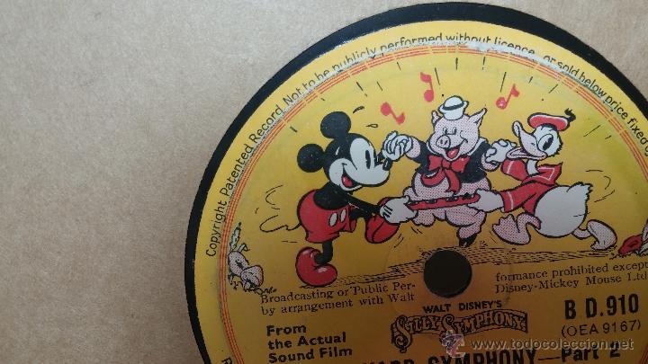 Discos de pizarra: Disco de pizarra antiguo, Walt Disney... farmyard symphony - Foto 8 - 53521687