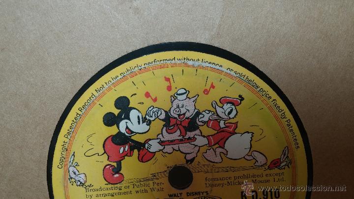Discos de pizarra: Disco de pizarra antiguo, Walt Disney... farmyard symphony - Foto 9 - 53521687