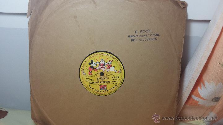 Discos de pizarra: Disco de pizarra antiguo, Walt Disney... farmyard symphony - Foto 11 - 53521687