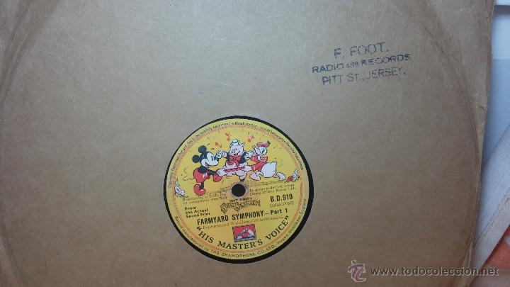 Discos de pizarra: Disco de pizarra antiguo, Walt Disney... farmyard symphony - Foto 12 - 53521687