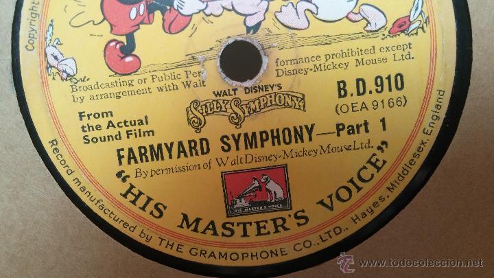 Discos de pizarra: Disco de pizarra antiguo, Walt Disney... farmyard symphony - Foto 13 - 53521687