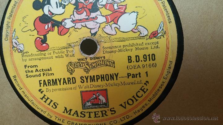 Discos de pizarra: Disco de pizarra antiguo, Walt Disney... farmyard symphony - Foto 14 - 53521687