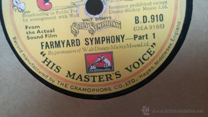 Discos de pizarra: Disco de pizarra antiguo, Walt Disney... farmyard symphony - Foto 15 - 53521687