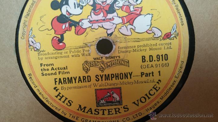 Discos de pizarra: Disco de pizarra antiguo, Walt Disney... farmyard symphony - Foto 16 - 53521687