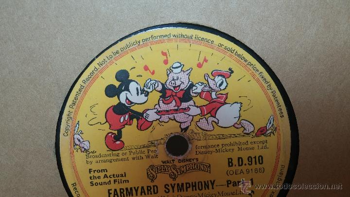 Discos de pizarra: Disco de pizarra antiguo, Walt Disney... farmyard symphony - Foto 17 - 53521687