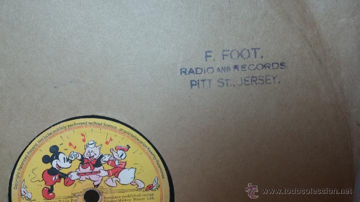 Discos de pizarra: Disco de pizarra antiguo, Walt Disney... farmyard symphony - Foto 19 - 53521687