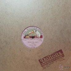 Discos de pizarra: DISCO DE PIZARRA ANTIGUO, MADAME MELBA..... GOOD BYE. Lote 53531572