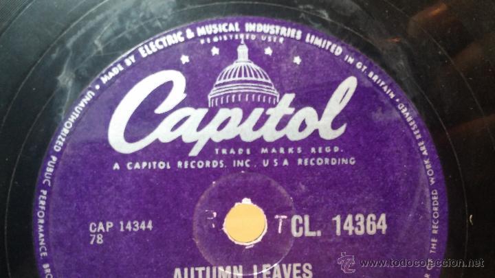 Discos de pizarra: Disco de pizarra antiguo, NAT KING COLE, un trozo del filo del disco está partido - Foto 13 - 53532018