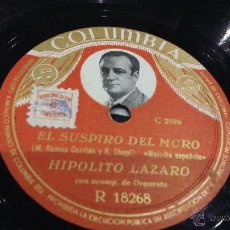 Discos de pizarra: DISCO DE PIZARRA HIPÓLITO LAZARO. Lote 53532689