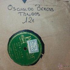 Discos de pizarra: DISCO DE PIZARRA ANTIGUO, ALBENIZ.... OSALDO BERCOS, TANGOS, INSPIRACION - YRA YRA. Lote 53534254