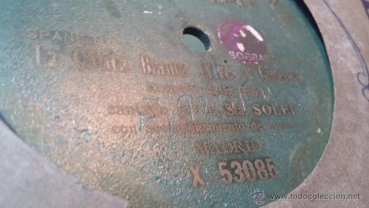 Discos de pizarra: Disco de pizarra antiguo, CUPLE... LA GATITA BLANCA, cantado por la Srta SOLER - Foto 9 - 53534370