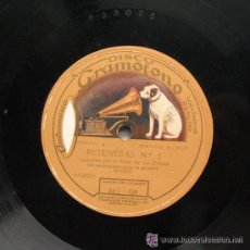Discos de pizarra: FLAMENCO. TANGO DE LA TONTONA – PETENERAS Nº 1. LA NIÑA DE LOS PEINES. GRAMOFONO AG 68. Lote 53629473