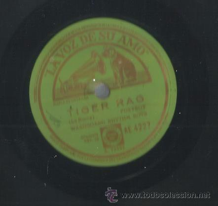 WASHBOARD RHYTHM BOYS : TIGAR RAG / MCKINNEY´S COTTON PICKERS: LLORANDO Y SUSPIRANDO (Música - Discos - Pizarra - Jazz, Blues, R&B, Soul y Gospel)