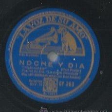 Discos de pizarra: ORQUESTA LEO REISMAN CON FRED ASTAIRE : NOCHE Y DIA ( COLE PORTER) + FATS WALLER : NO TE PREOCUPES . Lote 53820869