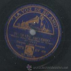 Discos de pizarra: ORQUESTA LIONEL HAMPTON : THE JUMPIN´JIVE + TU GRATO RECUERDO . Lote 53821168