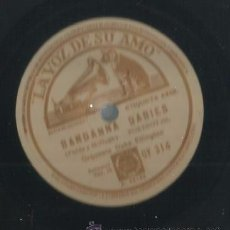 Discos de pizarra: ORQUESTA DUKE ELLINGTON : WASHINGTON WOBBLE + BANDANNA BABIES . Lote 53821208
