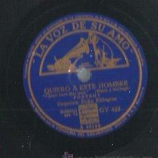 Discos de pizarra: ORQUESTA DUKE ELLINGTON : EAST ST. LOUIS TOODLE-OO + QUIERO A ESTE HOMBRE . Lote 53821236